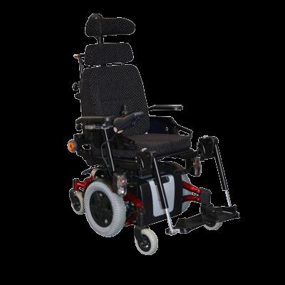 blue wheelchair facing right